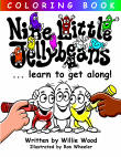 Nine Little Jellybeans Coloring Book